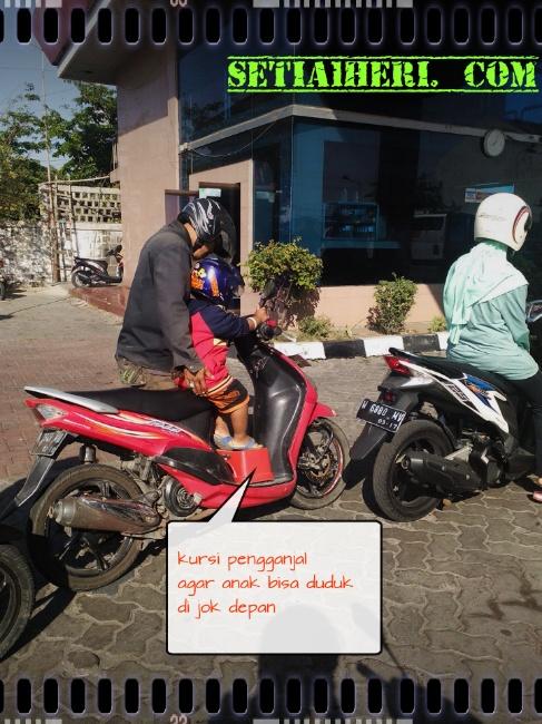 tambahan kursi depan untuk anak bagi motor matik