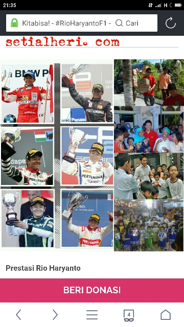 Rio Haryanto pembalap talenta GP 2 asal Indonesia