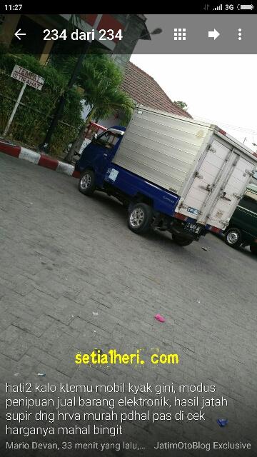 modus penipuan dengan jual barang elektronik di sekitar SPBU Jawa Timur