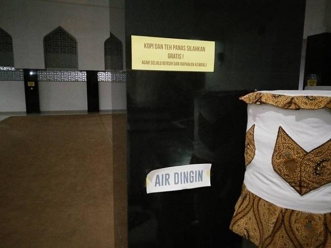 masjid agung ciamis sedia teh dan kopi tahun 2015