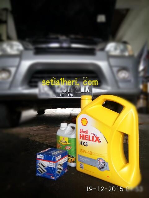 oli Shell Helix HX5 pada Taruna FGX 2003