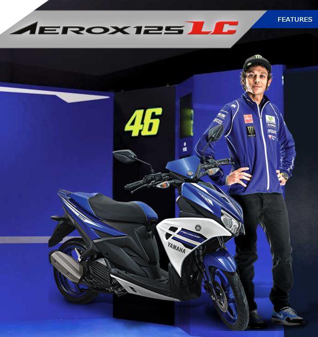 Aerox125LC tahun 2016 dengan tagline life is a race
