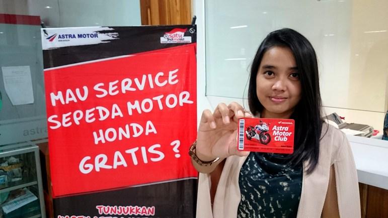 Kejutan service motor gratis bagi pemegang Kartu Astra Motor Club di Jogjakarta tahun 2016