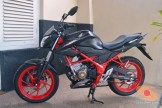 Honda All New CB150R warna livery hitam dan merah (8)