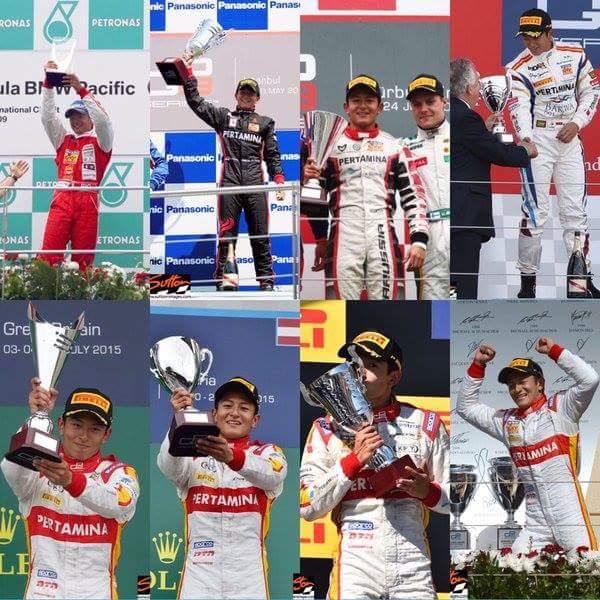 prestasi juara Rio Haryanto di GP2 dan GP3