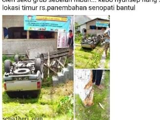 kecelakaan motuba Chevrolet Opel blazer KT 599 A di Sawon, Bantul, Jogjakarta tanggal 30 Maret 2016