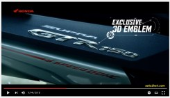 emblem 3d all new honda supra gtr 150 tahun 2016