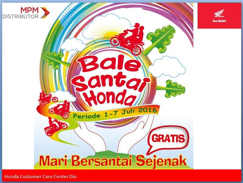 Daftar Lokasi Balai Santai Honda 2016 di Jawa Timur