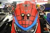 Yamaha NMAX modifikasi livery Spiderman 3 asal Mojokerto 2016 (4)