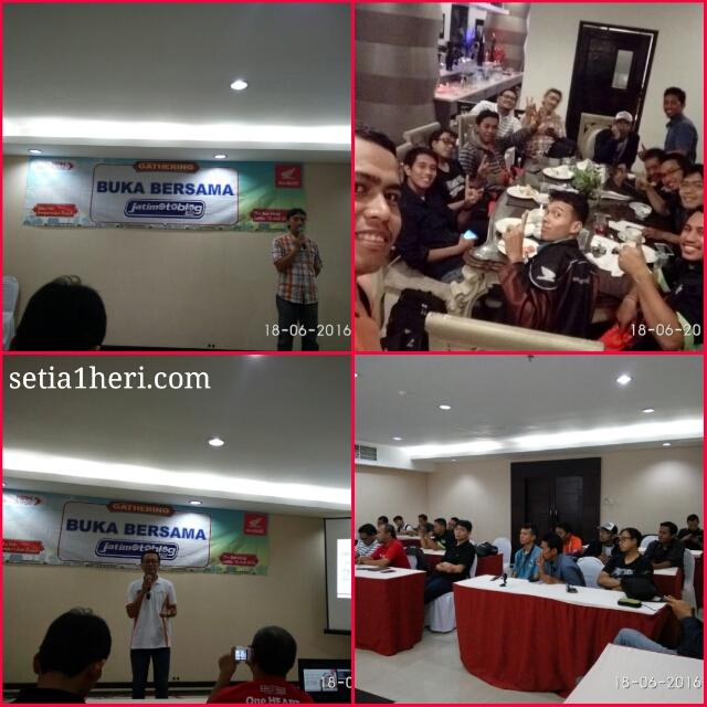 buka bersama pt mpm motor Jawa Timur dengan blogger Jatimotoblog net tahun 2016 di The Sun Hotel Sidoarjo ~02