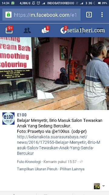 kecelakaan maut honda brio di Kediri tanggal 18 Juni 2016