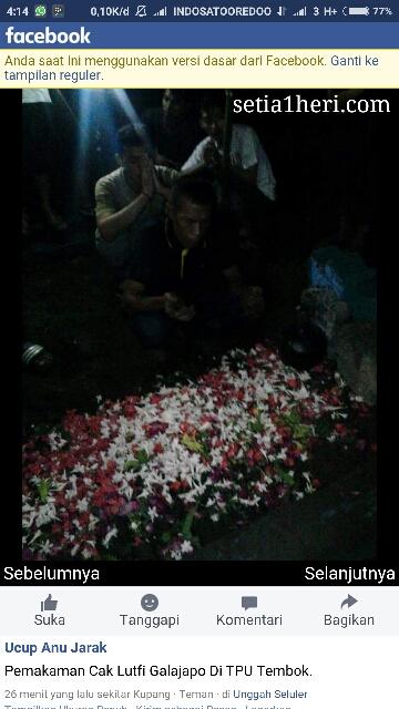 pemakaman Cak Lutfie Galajapo di TPU Tembok tanggal 8 Juni 2016