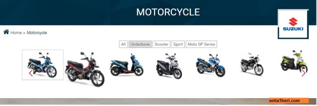 daftar harga motor suzuki all series tahun 2016