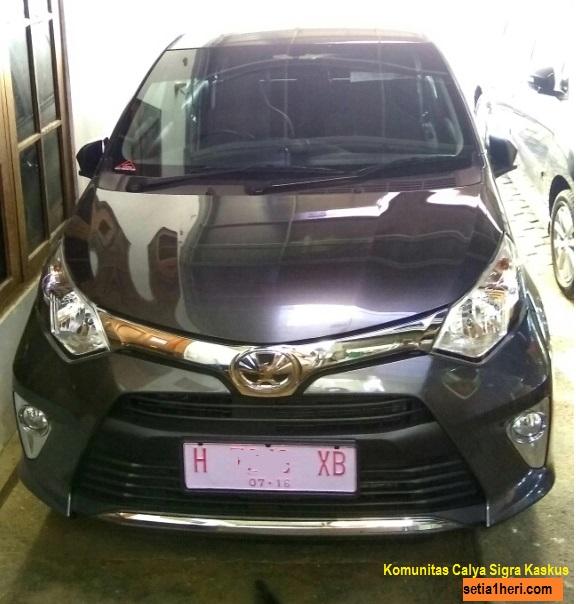 Toyota calya tipe g AT warna grey atau abu2 metallik 6