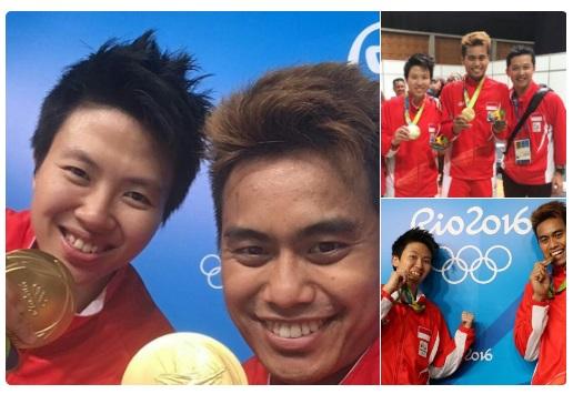 emas untuk indonesia dari tontowi ahmad dan liliyana natsir dari cabang badminton olimpiade rio 2016