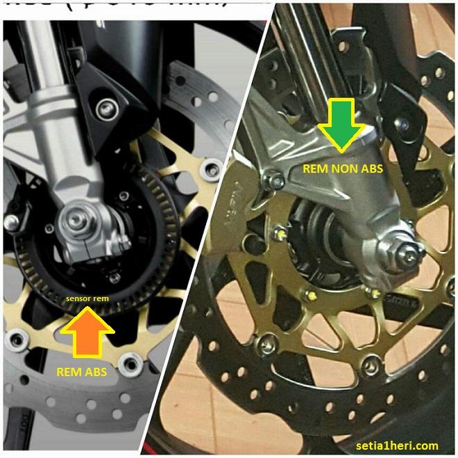 Beda Penampakan Disc Brake Rem Abs Dan Non Abs Pada Motor Khusus