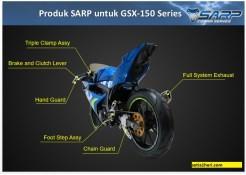 Daftar part SARP Cobra Series untuk Suzuki GSX R-10 dan GSX S-150 tahun 2017