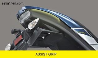 pegangan belakang pada All New Vixion facelift tahun 2017