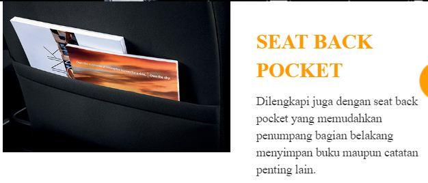 poket belakang kursi all new daihatsu ayla tahun 2017