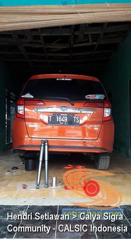 Pemasangan Per dan Shock Kayaba di Toyota Calya
