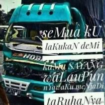 Kumpulan Tulisan kaca samping truck canter yang bikin gerrr.....gerrr... (13)