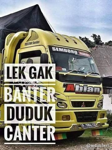 tulisan kaca samping truck canter  bikin gerrrgerrr