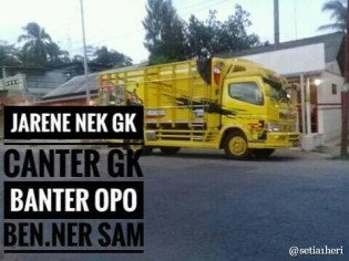 Kumpulan Tulisan kaca samping truck canter yang bikin gerrr.....gerrr... (6)