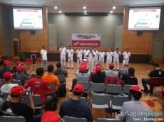 Puluhan Blogger dan Vlogger se-Indonesia kunjungi pabrik motor Honda di Plant Karawang tahun 2017 (1)