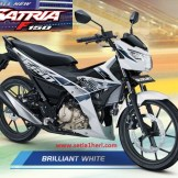 Warna baru Suzuki All New Satria F150 - 2017 - Brilliant White