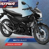 Warna baru Suzuki All New Satria F150 - 2017 - Matte Black Predator