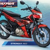 Warna baru Suzuki All New Satria F150 - 2017 - Stronger Red