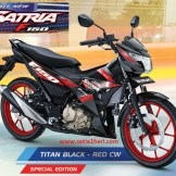 Warna baru Suzuki All New Satria F150 - 2017 - Titan Black Red CW