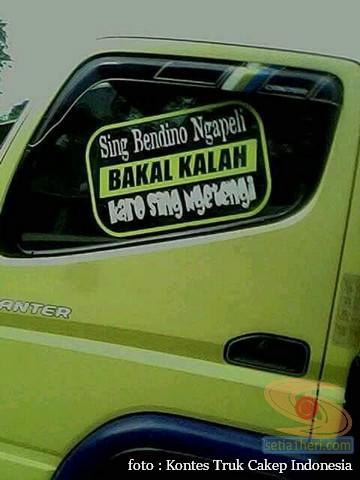 Kumpulan Tulisan lucu di kaca samping truk ….hehehe….gokil 2017 (13)
