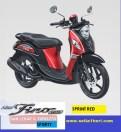 Yamaha fino sporty ban lebar dan tubeless tahun 2017 warna sprint red