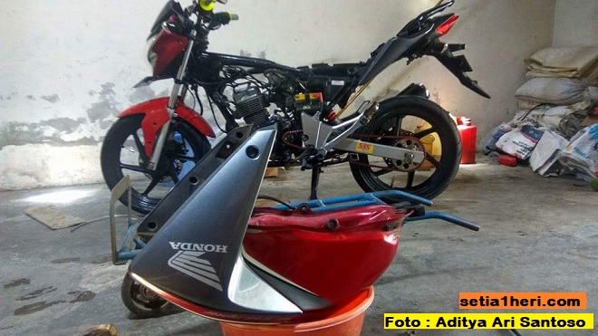 Ragam cara alternatif tambal tangki bocor pada Honda New Megapro