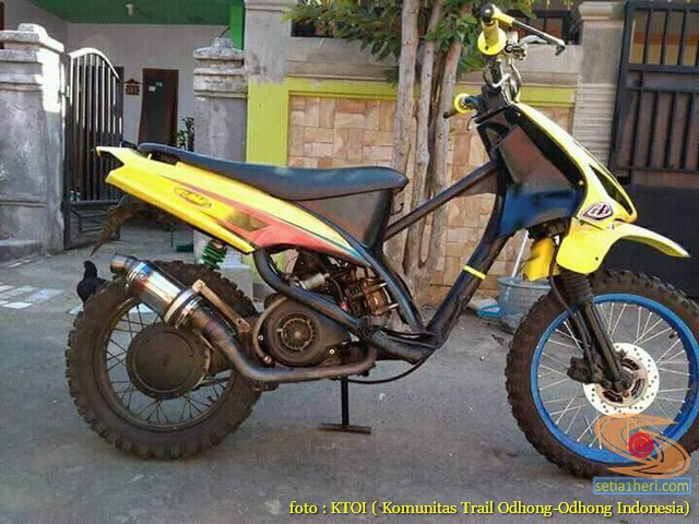 Kumpulan Gambar Motor Trail Basis Motor Matic Alias Trail Matic 1