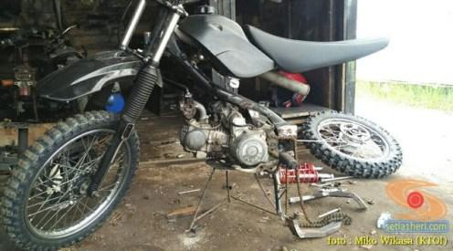 cara Modifikasi Honda Supra X jadi motor Trail