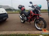 Kumpulan gambar frame slider alias tubular atau crash bar pada Honda New Megapro (6)