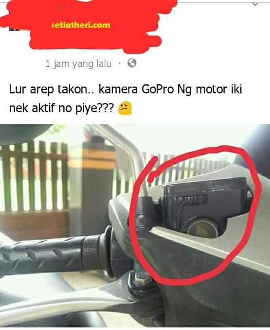 master rem dikira ada kamera gopro dimotor deket stir...hihihi
