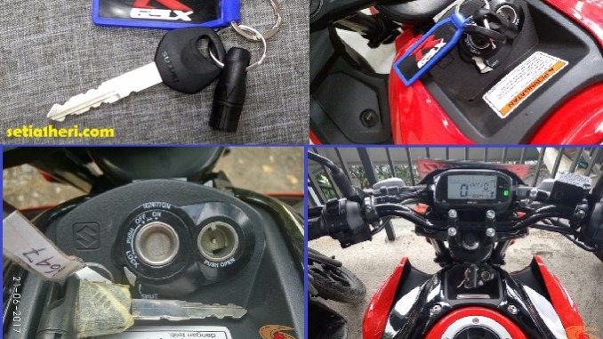Beda Bentuk Anak Kunci Shutter Key Pada Suzuki Gsx R150 Dan Gsx S150