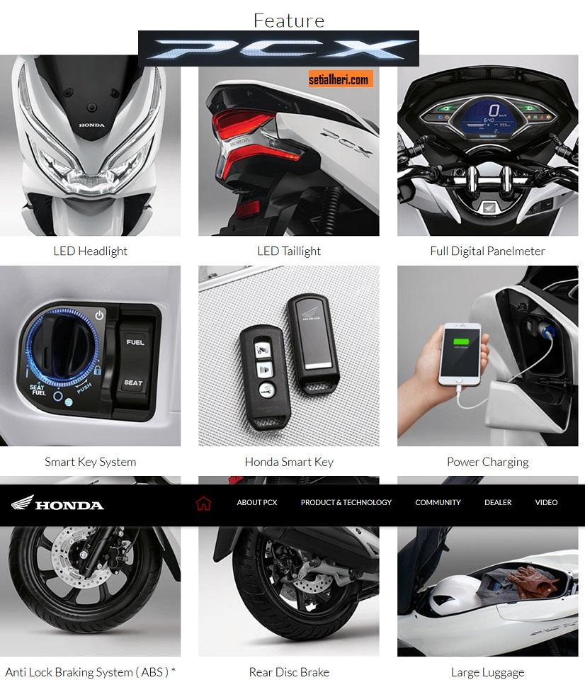 Fitur lengkap Honda PCX 150 asli Indonesia tahun 2018