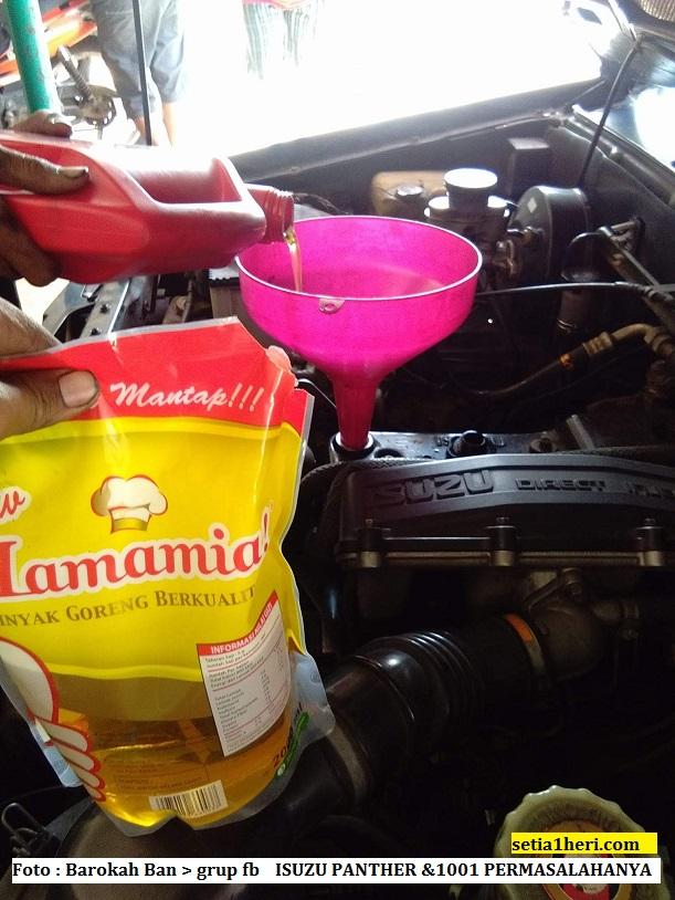 Pengalaman gurah mesin alias engine flush dengan minyak goreng pada Isuzu Panther