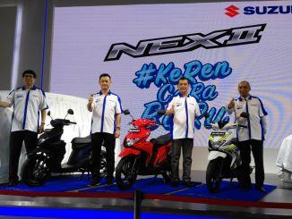 Penampakan motor Suzuki Nex 2 dan 5 Variannya tahun 2018