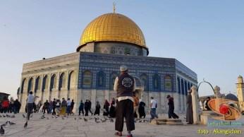 akang ichan bandung di masjid dome of rock palestina tahun 2018
