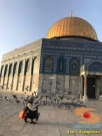 akang ichan di masjid dome of rock palestina tahun 2018