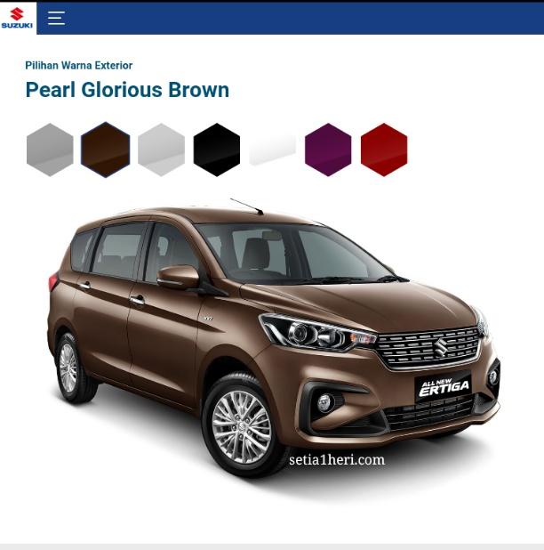 pilihan warna All New Suzuki Ertiga tahun 2018