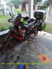 Kumpulan gambar modifikasi Honda Supra X 125 pakai tubular atau teralis
