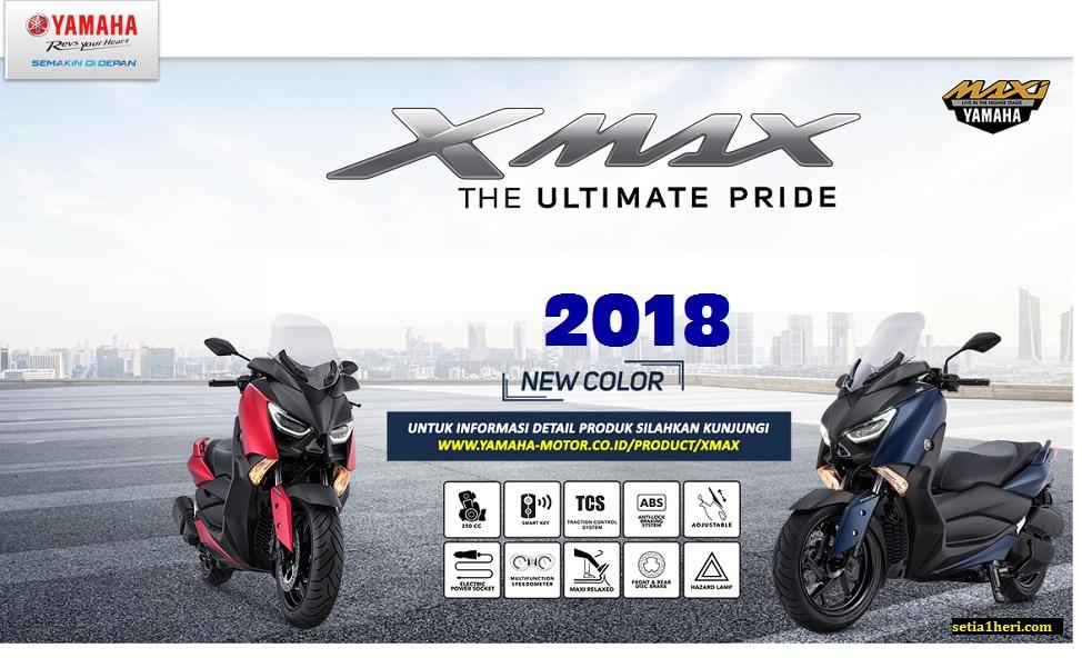 4 warna baru Yamaha XMAX tahun 2018