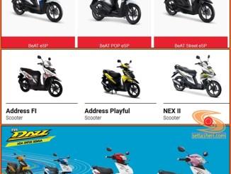 Daftar harga motor matic 110 - 115 cc seluruh pabrikan