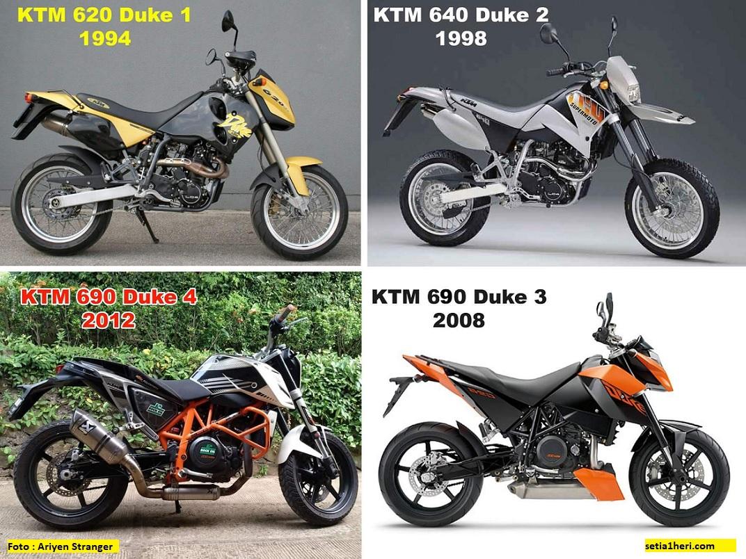 Evolusi motor KTM Duke 690 dari masa ke masa